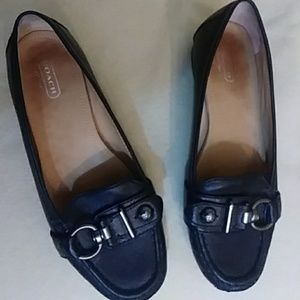 "Coach ""Elkie"" leather loafers - sz 7.5 B"